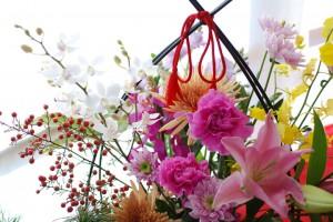 お正月お花