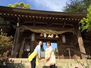 菊池神社でまむさんと