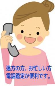 遠方の方、お忙しい方電話鑑定が便利です。